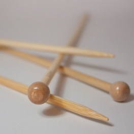 Ihlice rovné bambusové Addi 35 cm