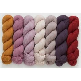 Rosy Green Wool - Big Merino Hug Moods colours